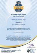 St helen s college certified school certificate